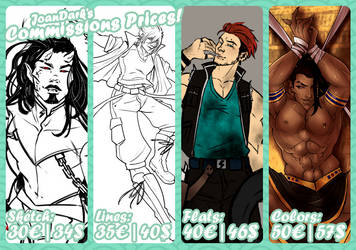 2018 Commissions Prices NEW by JoanDark