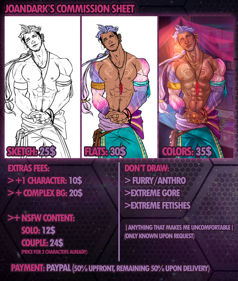 .: 2019 Commission Sheet -NEW LOWER PRICES-:. by JoanDark