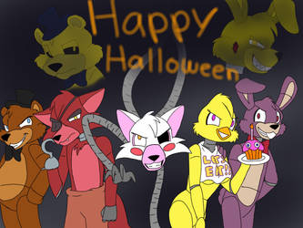 FNAF's Happy Halloween (Tony Crynight) by OptimusPrimeTFR
