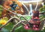 Link vs Guardian / Zelda Breath of The Wild