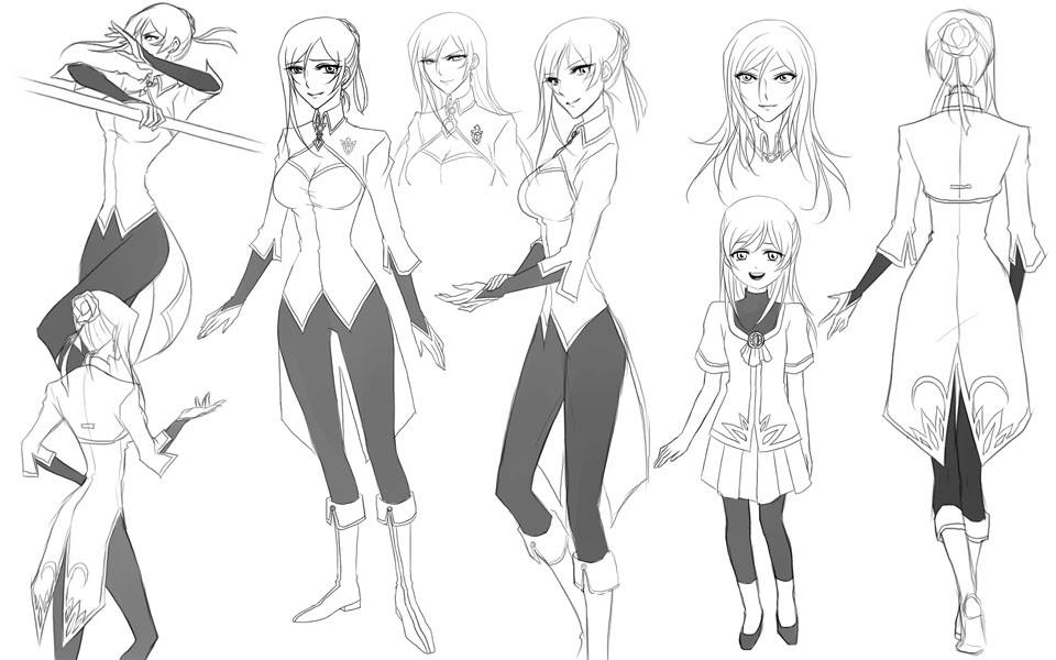 Jozetta Sketches by LightSilverstar