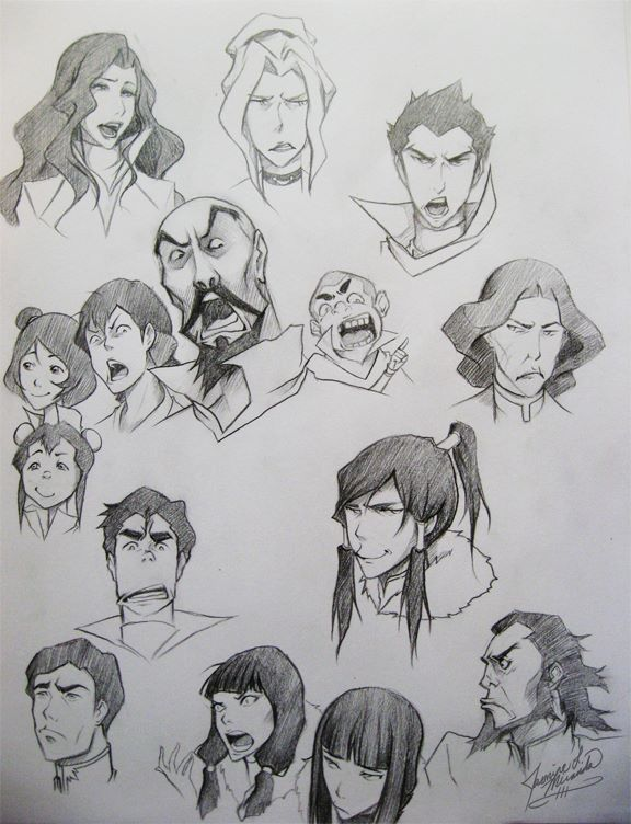 Legend of Korra - Pencil Doodles by LightSilverstar