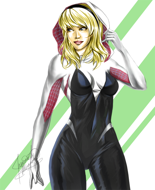 Spider Freaking Gwen by LightSilverstar