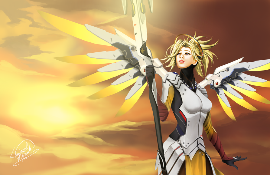 Overwatch - Mercy by LightSilverstar