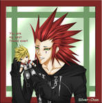 Axel and a Roxas Plushie X3