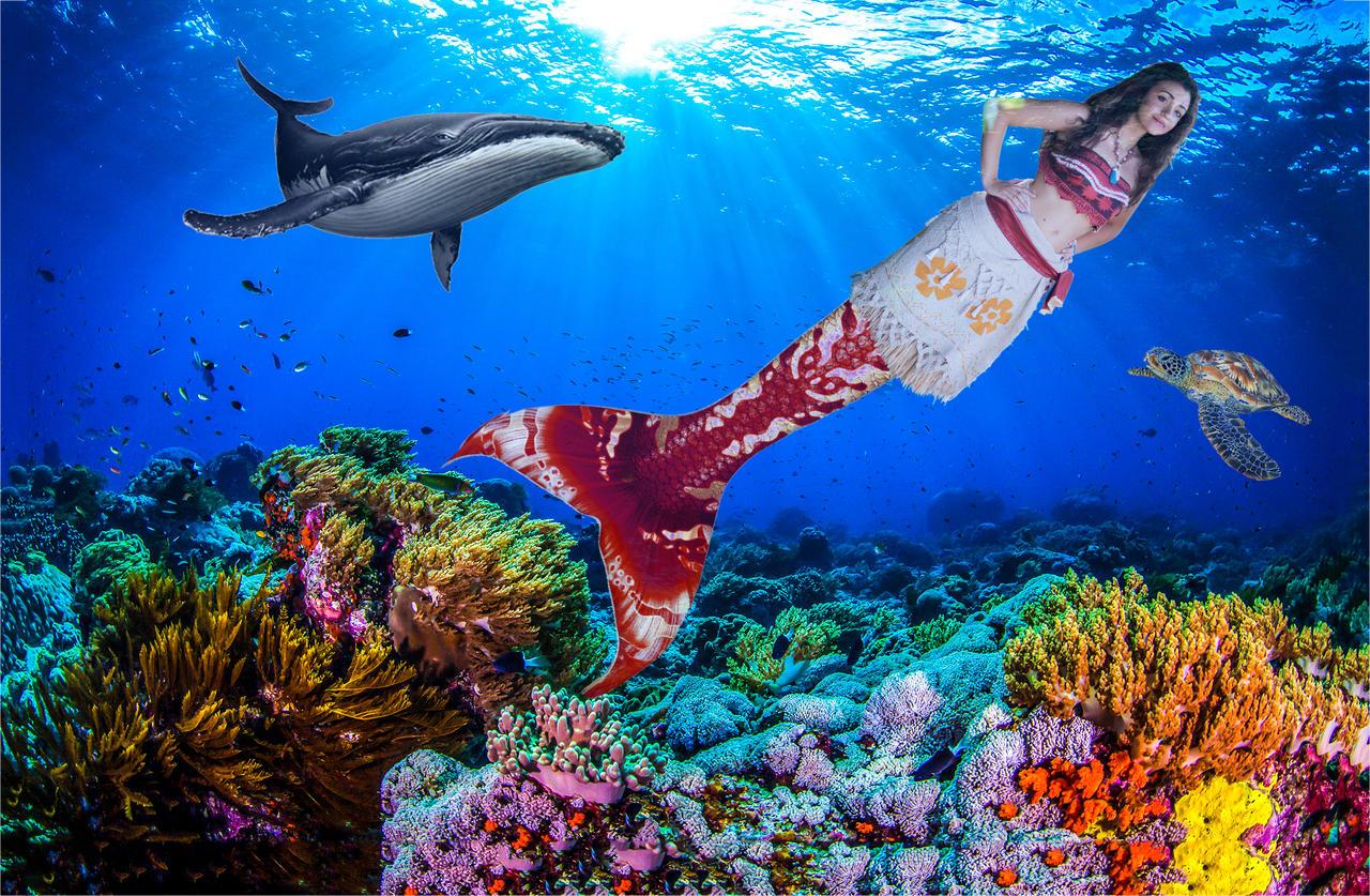 Moana Mermaid in the Ocean