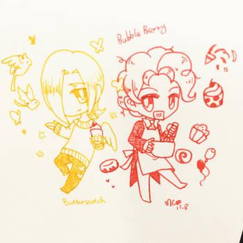 Chibi Butterscotch and Bubble Berry by MayCyan