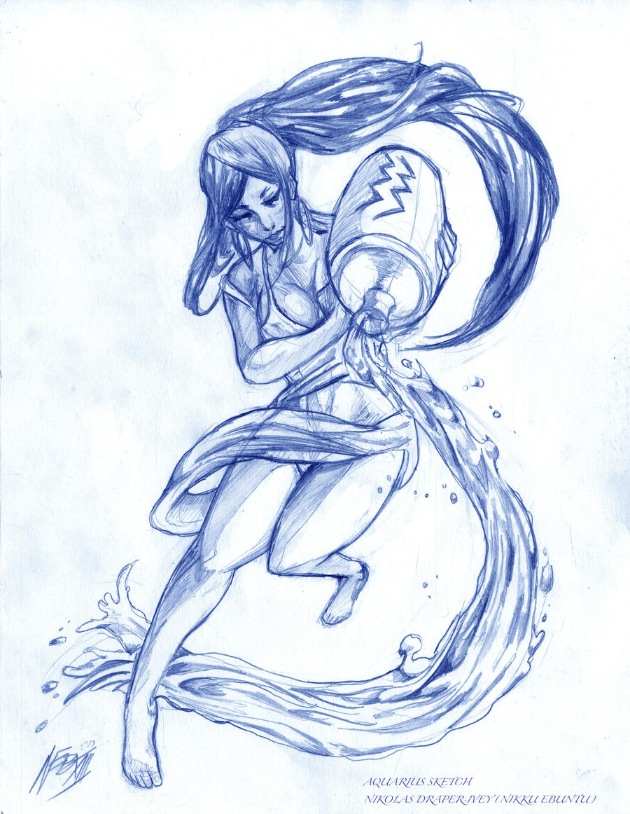 Aquarius Sketch by NikolasDraperIvey on DeviantArt