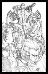 Secret Avengers Sketch by NikolasDraperIvey