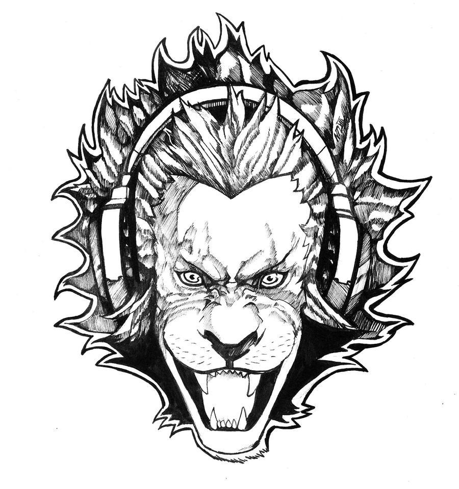 Lion With Headphones Commission by NikolasDraperIvey on ...