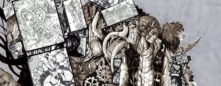 Snippet of a Sketchbook Project. by NikolasDraperIvey