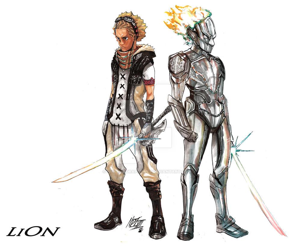 LION No Armor and Armor by NikolasDraperIvey