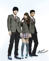 Dream High full body PAINTING by CassPoon