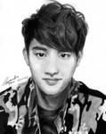 EXO D.O. pencil drawing