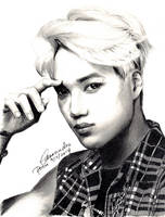 EXO Kai Drawing by CassPoon