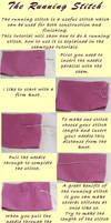 Running stitch tutorial by Kathelyne