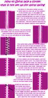 Spiral lacing horizontal holes by Kathelyne