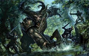 Dragon Age: Ogre Fight by tycarey