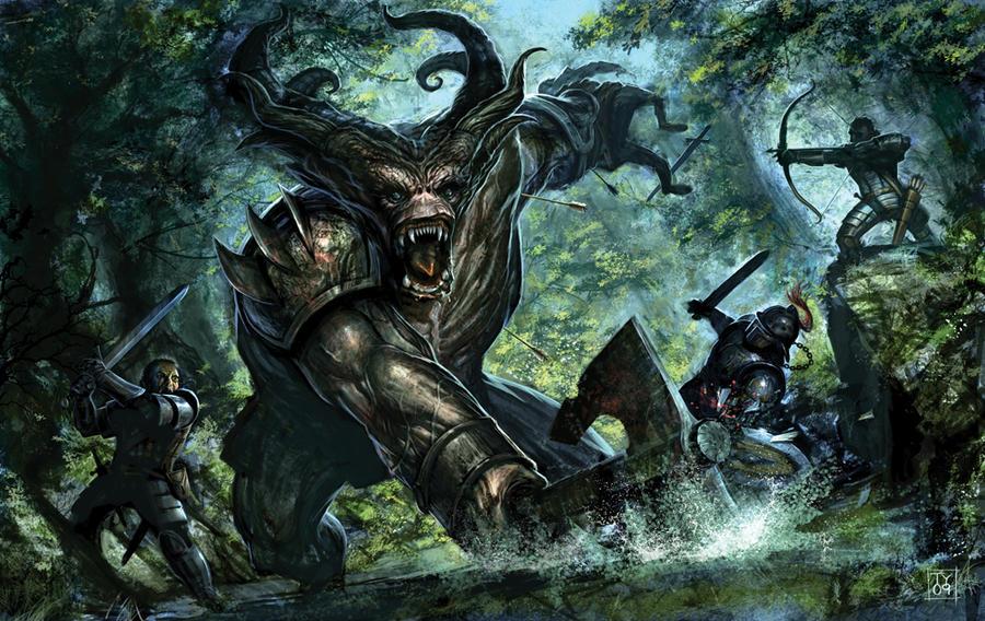 Dragon Age: Ogre Fight