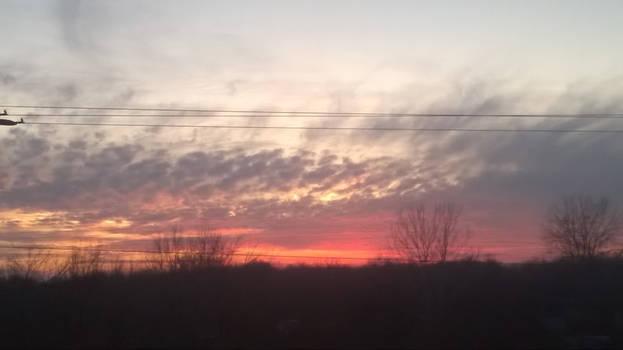 Crimson Red Sky