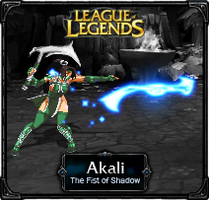 Akali The Fist of Shadow - LoL by HadesDiosSupremo