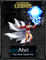 Ahri The Nine-Tailed Fox - LoL by HadesDiosSupremo