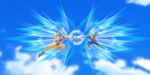 SSB Goku vs SSB Vegeta - Fakeshot by HadesDiosSupremo