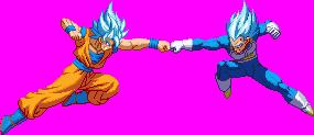 SSB Goku vs SSB Vegeta by HadesDiosSupremo