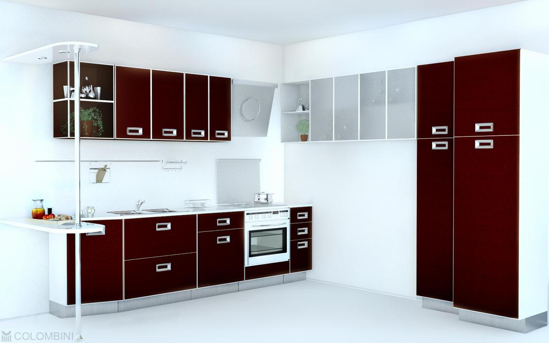 kitchen interior by k1borg on deviantart