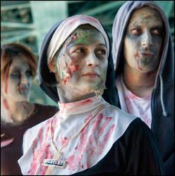 Pervert Zombie Nun by cham-fr