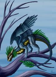 Great tit dragon by rAthena