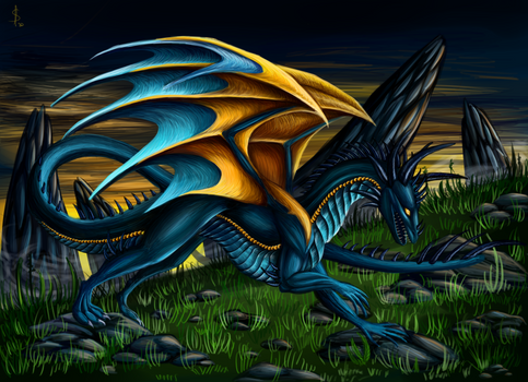 Dragon of the sunset
