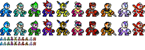 Mega Man 11 Copy Weapons 8-Bit by BraveBowmanTBW