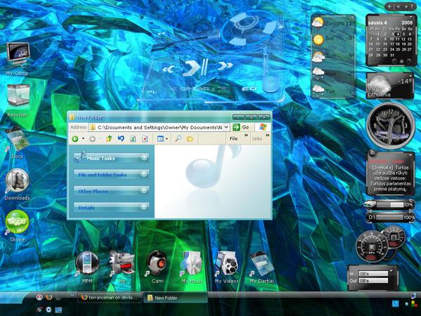 blue green desktop by Valdemaras