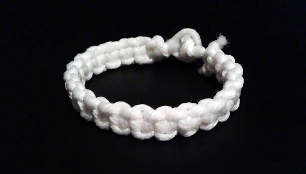 White Cobra Weave Bracelet