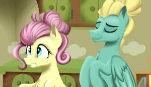 Fluttershy and Zephyr Breeze