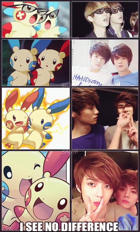 PlusLulu' and MinHun Exo pokemon macros by SwagSagwa