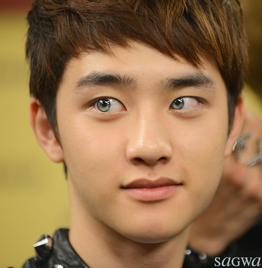 Kyungsoo Grey Eyes Edit By Swagsagwa On Deviantart