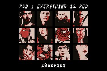 PSD #26 - EVERYTHING IS RED * BY DARKPSDS by darkpsds