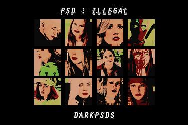 PSD #27 - ILLEGAL * BY DARKPSDS by darkpsds
