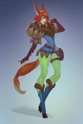 Fox concept art by Lagunaya