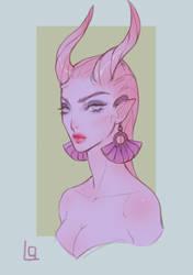 Demon girl by Lagunaya