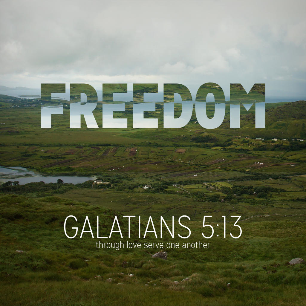 Galatians 5:13 Square by Xiphos71