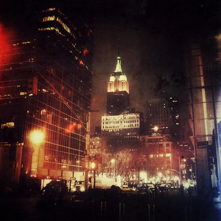 Empire Overlooking Bryant Park by KatieJoArt