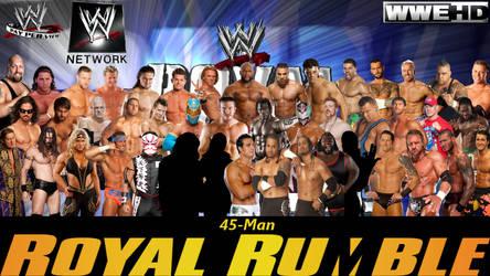 WWE Royal Rumble 2012 Poster by deviantfafnir