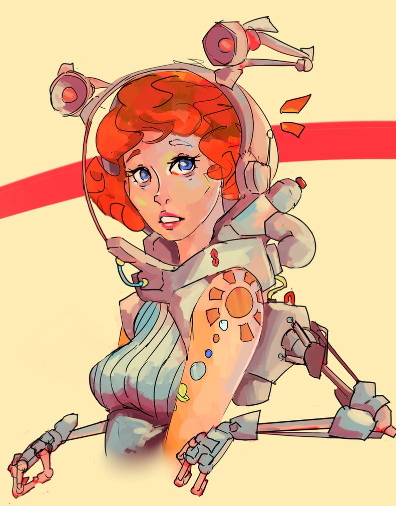 space girl by Quetzoiin