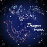 Dragon Brothers icon neon