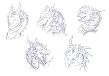 Sketchy Headshots - 2 by Hatchy-Bridy