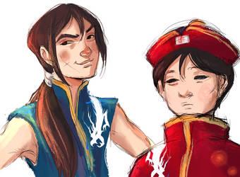Battle B-Daman- Wen and Li by nolawforthedamned