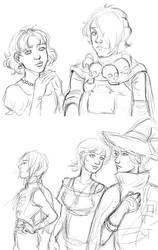 B-Daman sketches (Bull, Karat, Wen, Gray, Lienna) by nolawforthedamned